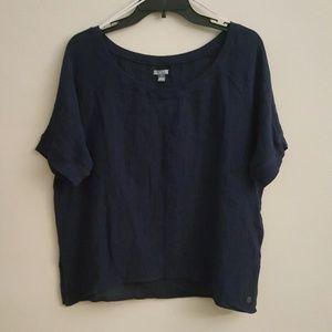 Aerie 100% Cotton Short Sleeved Top w/Side Slits